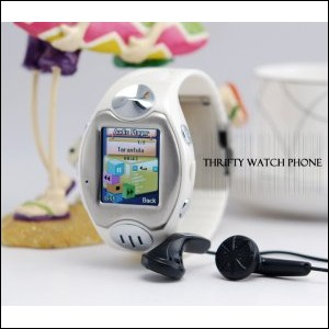 Thirfty Watch Phone (Quad Band, Bluetooth, Touchscreen)