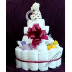 Large Baby Nappy Cake ~ baby shower gift