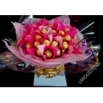 Sweet Bouquets : Fererro Rocher Chocolate ~ sweet display ~ delivered in patterened box