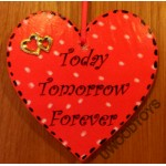 Personalised Wooden Sign : 10cm Large Heart made to your design.