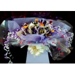 Sweet Bouquets : Cadburys Heroes ~ sweet display ~ delivered in patterened box