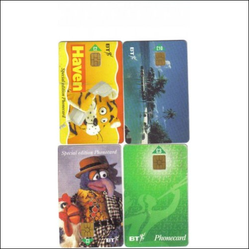 BT phone card 1998 $$$Muppets caricatures££££