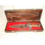 MUELA MACAREN0 Limited Edition Wild Boar handlked Hunting Knife and case