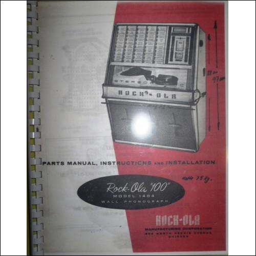 Rockola 1484 / 1485  jukebox service / parts  manual