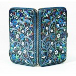 FABERGE - AMAZING RUSSIAN Imperial ENAMEL SILVER CIGARETTE BOX 19th c, 84 and AH