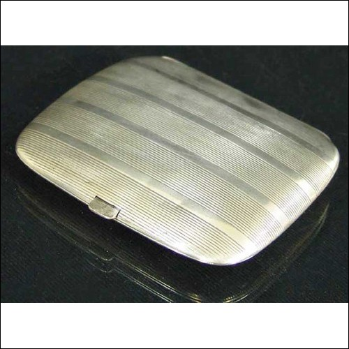 FABERGE – Russian Imperial Silver Cigarette Case made by Karl FABERGE, stamped