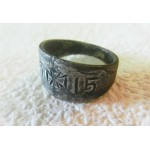 German WW1 Ring with Iron Cross, SOLDIERs Trench ART, 1915