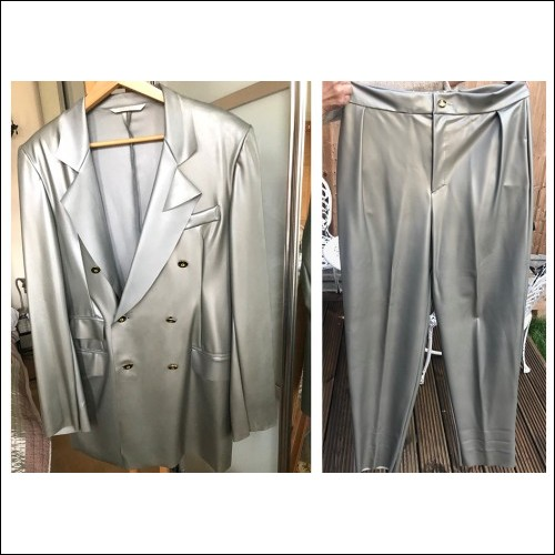 Vivienne Westwood Gold Label early WORLDS END 1988 Unique Latex Stitched Men's Suit Post SEDITIONARIES