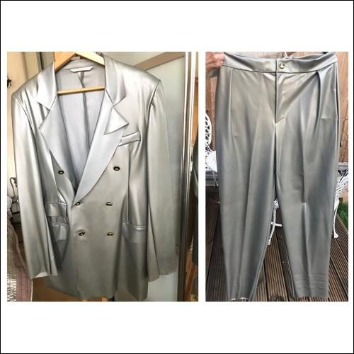 Vivienne Westwood Gold Label early WORLDS END 1988 Unique Latex Stitched Men's Suit Post SEDITIONARIES