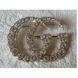 CHANEL BROOCH CC RHINESTONES HALLMARKED AUTHENTIC