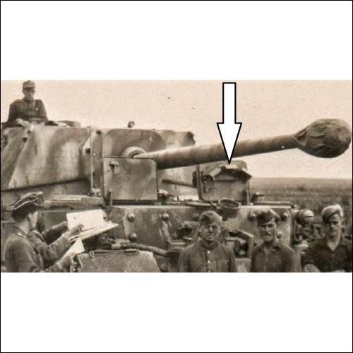 MEGA RARE ! WWII German driver top hatch Panzerjäger Tiger (P) / Ferdinand / Elefant  Wermacht.