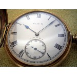 Vintage Elgin Full Hunter Pocket Watch