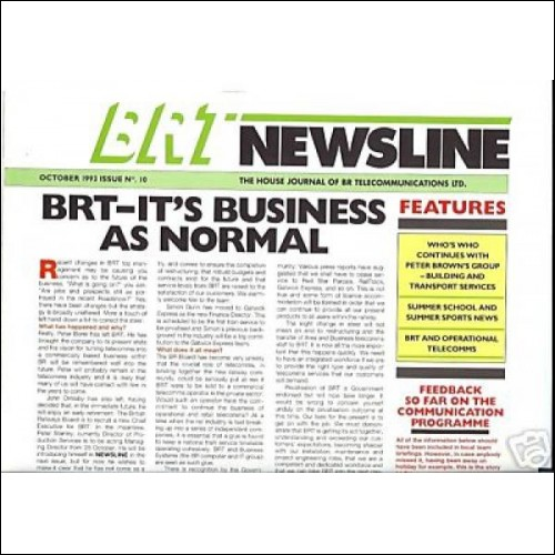 BRT British Rail Telecommunications Lima Class 20 names