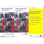 London Transport Underground Tube Access Guide large print 2002 3 pieces