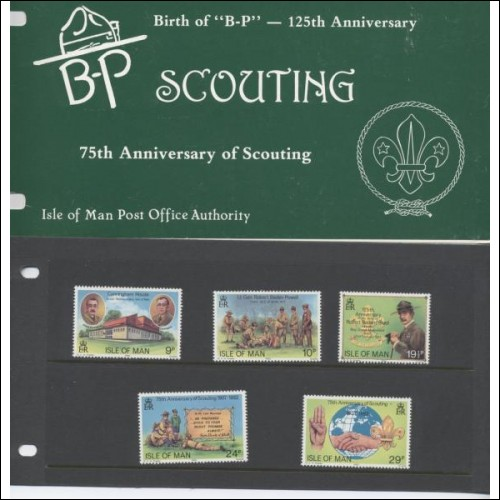 1982 75th Anniversary of Scouting Isle of Man Pack