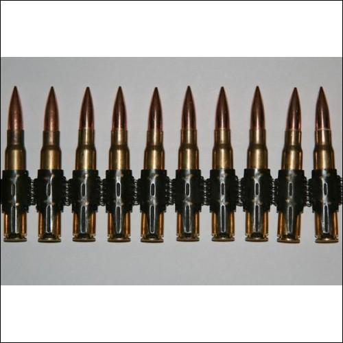 MG34 MG42 7 92mm Bullet Belt Inert 8mm Mauser Ammo Rounds