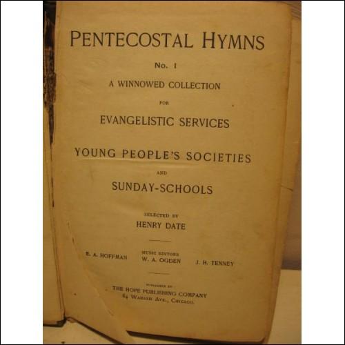 Pentecostal Hymns #1 1894, HC