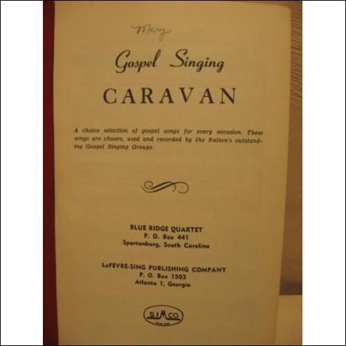 Caravan Gospel Singing, SC, hymn book, shape notes
