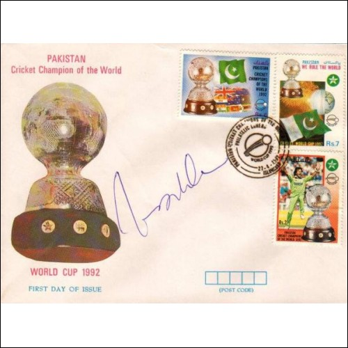 Pakistan Fdc World Cup Cricket Champions Imran Khan Autograph