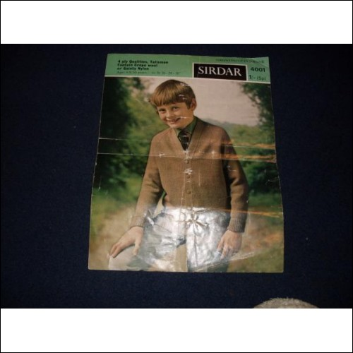 Growing up in Sirdar No 4001 - Boy's Cardigan - perhaps about 1970/1