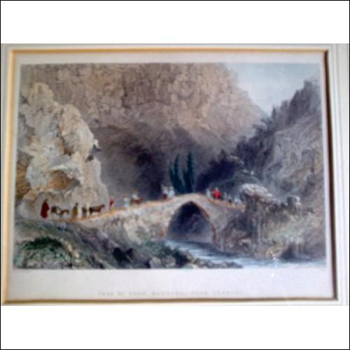 Pass Of Souk Barrada,-Near Zebdahi - W H Bartlett Antique Print