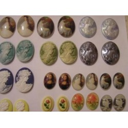 Huge collection wholesale lot of 148 mixed Vintage style cameo