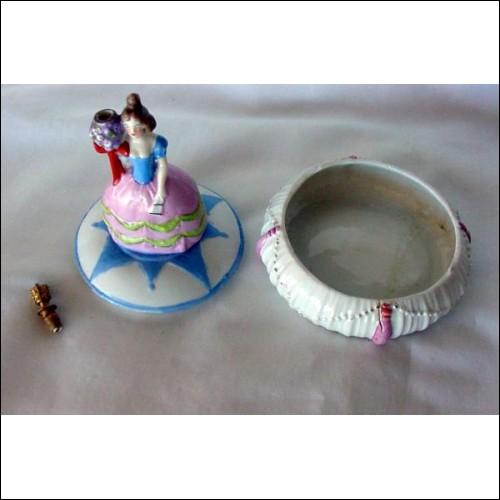 Perfume Bottle & Powder Holder ~ RARE Sitzendorf