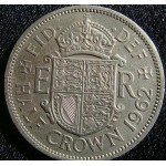 1962 Queen Elizabeth 2nd Half Crown VF