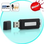 USB Flash Drive & Audio Recorder - 240 Hours (Black)