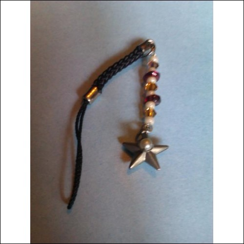 Garnet with Yellow and Pearl beads and Star Charm.