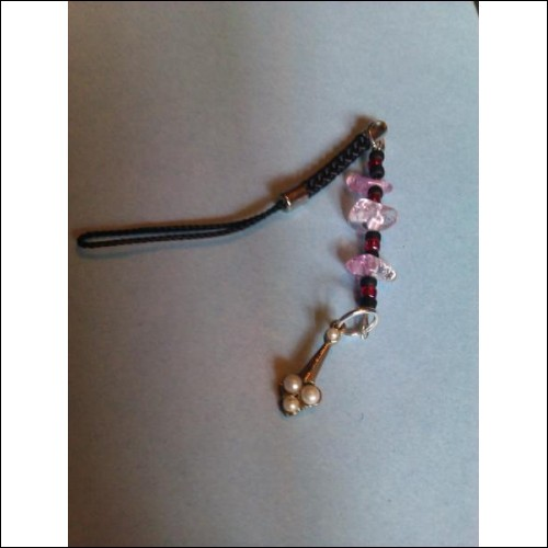 Quartz and Seed Bead with Drop Pearl Charm