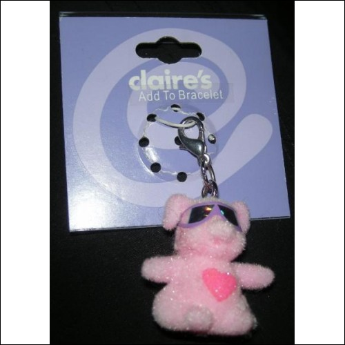 CUTE COOL PINK PIG WITH SUNGLASSES CLIP ON CHARM