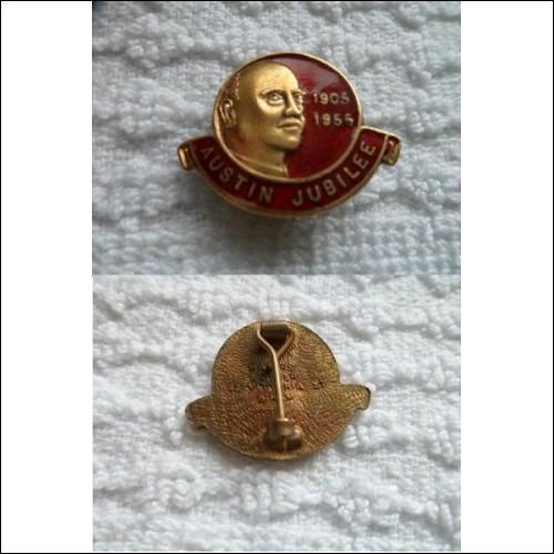 original 1950's Austin Motor Company Jubilee 1905-1955 enamelled lapel badge