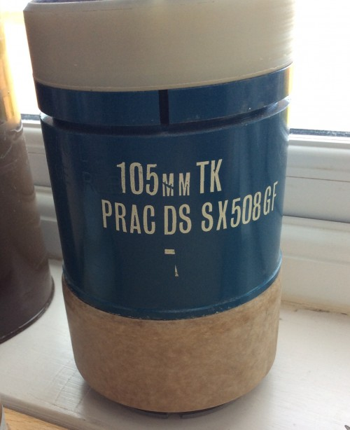105mm DST PRAC APDS Centurion Tank Round with full packaging